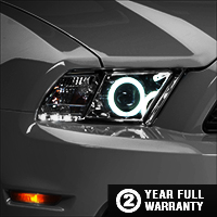 Raxiom Chrome Projector Headlights - CCFL Halo (13-14 GT, V6 with Factory HID)