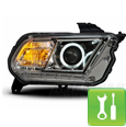 Raxiom Mustang Halo Projector Headlights (2010-2011) - Installation Instructions