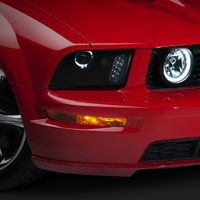 Raxiom Smoked Projector Headlights - LED Halo (05-09 GT, V6)