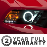 Raxiom Smoked Projector Headlights - CCFL Halo (10-12 GT, V6)