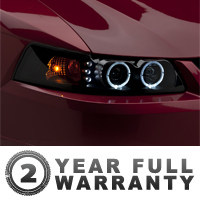 Raxiom Smoked Projector Headlights - Dual CCFL Halo (99-04 All)