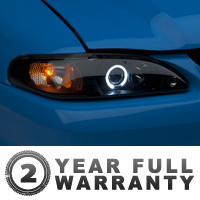 Raxiom Smoked Projector Headlights - LED Halo (94-98 All)