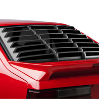 MMD Rear Window Louvers - Textured ABS - Hatchback (79-93 All)