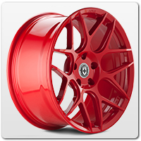 Red Mustang Wheels