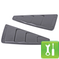 Roush Quarter Window Louvers (2005-2009 Mustang) - Installation Instructions
