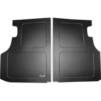 Scott Rod Fabrication Aluminum Trunk Floor Cover - Black - Coupe (79-93 All)