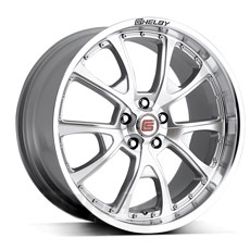 Silver Machined Shelby CS40 Wheels (2005-2009)