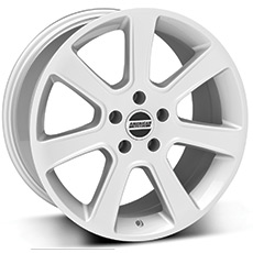 Silver S197 Saleen Style Wheels (1987-1993 5 Lug Conversion)