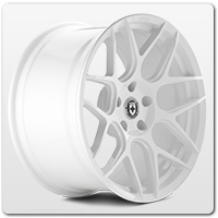 White Mustang Wheels