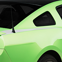 White Quarter Panel Accent Decal (10-14 All)
