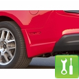 Xenon Mustang Rear Bumper Spats (2010-2011 V6) - Unpainted - Installation Instructions