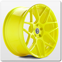 Yellow Mustang Wheels