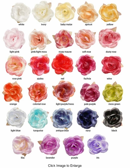 """1.5"""" Pretty Flower Hair Clips (available in 29 colors)"""