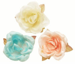 "1.5"" Pretty Flower Hair Clips (available in 29 colors)"