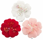 "1.75"" Felt Flower Hair Clips with Sequin Center  (in 36 colors)"