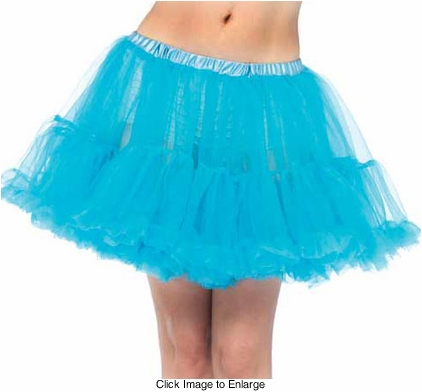 "15"" Super Fluffy Petticoat in Turquoise"