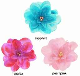 "2.15"" Flirty Flower Hair Clips (available in 25 colors)"