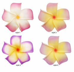 "2.5"" Classic Hawaiian Flower Hair Clip (available in 4 pastel colors)"