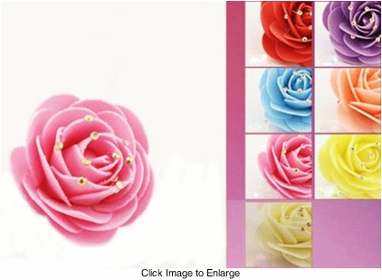 """2.5"""" Rose Flower Hair Clip with Crystal Tips"""