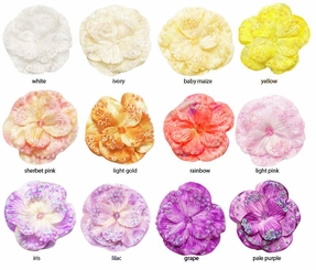 "2.75"" Velvet  Hair Clip with Sequins   (available in 28 colors)"