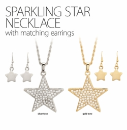 "2"" Crystal Star Necklace"