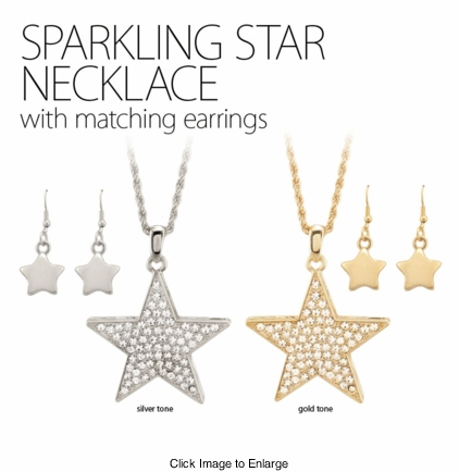 """2"""" Crystal Star Necklace"""