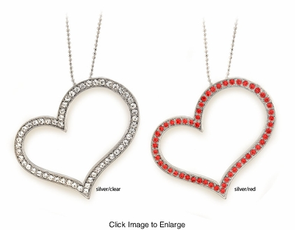 """2"""" Heart Crystal Necklace"""