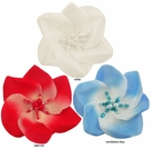 """2"""" Ombre Flower Hair Clip with Pearl and Bead Center"""