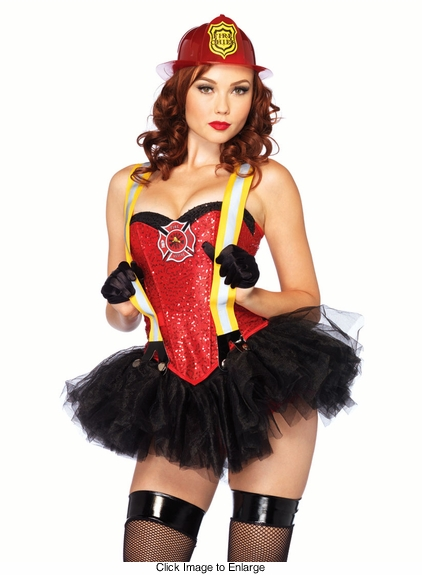 2-Piece Firehouse Hottie Costume