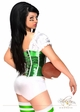 2-Piece Green Football Fantasy Corset Costume  inset 1