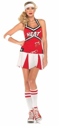 2 Piece NBA Miami Heat Cheerleader Sexy Costume Dress