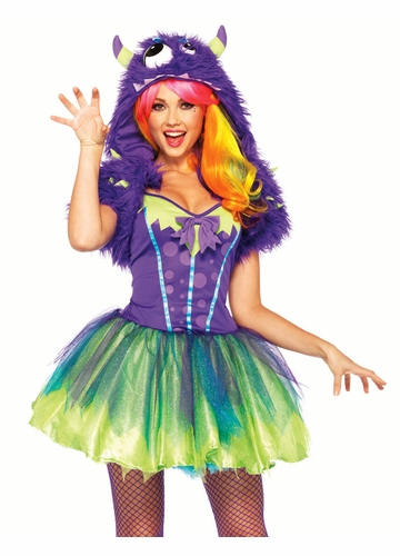 2-Piece Purple Posh Monster Furry Costume
