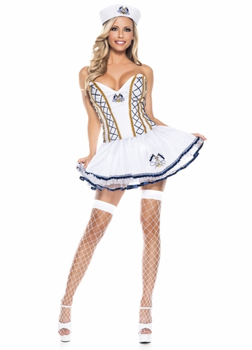 2-Piece Sailor Corset Top Costume