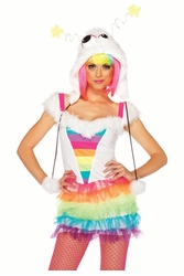 2-Piece Starbrite Monster Furry Hood Costume