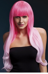 2-Tone Pink Very Long Emily Wig with Soft Curl