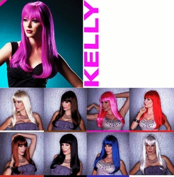 Kelly- Straight Long Wig with Full Bangs