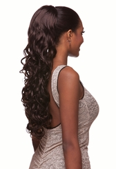 "25"" Long Glamour Curl Draw String Hair Piece"