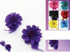 "3.15"" Vibrant Flower Hairclips"