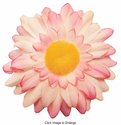 "3.25"" Gerber Daisy Rose Pink Flower Hair Clip"