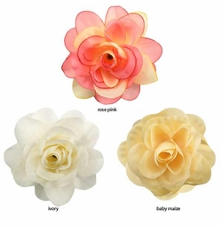 "3.5"" Rose Flower Hair Clip (available in 29 Colors)"