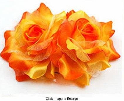 "3.5"" Satin Flower Hair Clips"