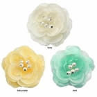 """3.5"""" Wedding Flower Hair Clip with Pearls (available in 35 colors)"""