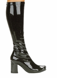 "3"" Go-go Boots in Black Vinyl Patent Leather"