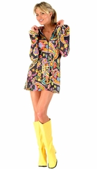 """3"""" Go-go Boots in Yellow Faux Leather"""