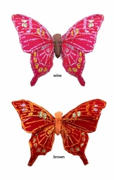 "3"" Jewel Tone Butterfly Hair Clip"