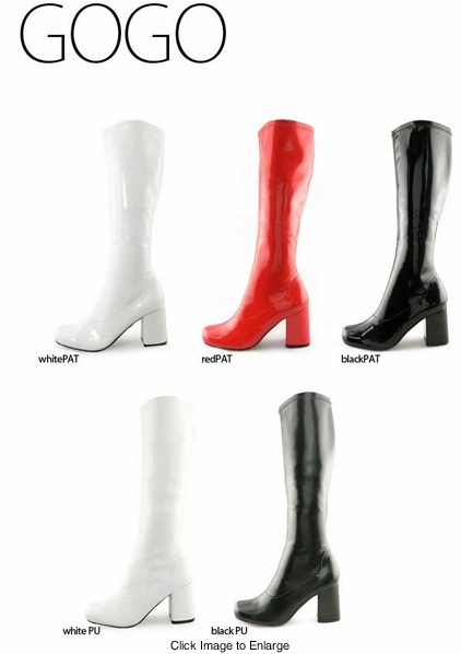 """3"""" Luxe Gogo Boots with Rounded Toe"""