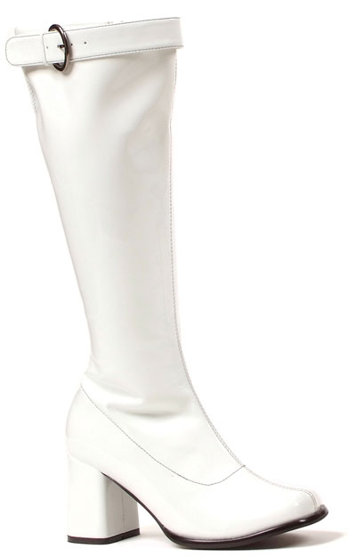 """3"""" Patent Leather Gogo Boots with Buckle"""