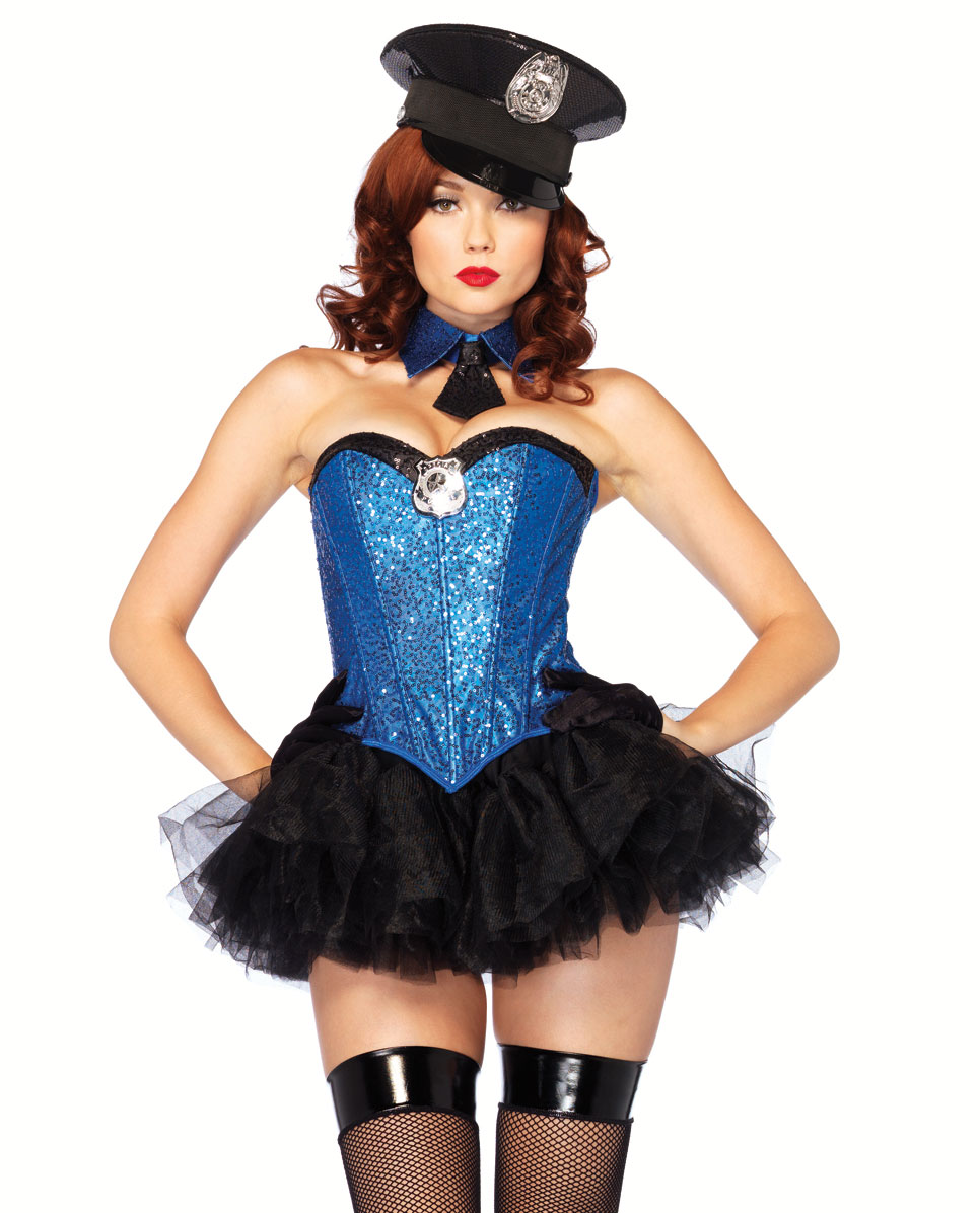 3-Piece Captivating Cop Costume