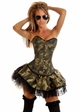 3-Piece Corset Army Babe Costume inset 1