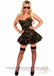 3-Piece Corset Army Babe Costume inset 2